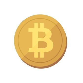 Een munt die in b-symbool vertegenwoordigt als bitcoin, de elektronische valuta