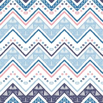 Een naadloos etnisch zigzag chevron vectorpatroon