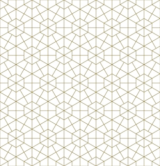Een naadloos patroon gebaseerd op elementen van het traditionele japanse ambacht kumiko zaiku.