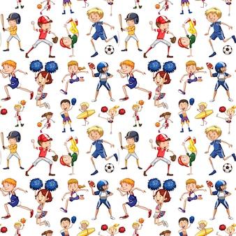 Een naadloos patroon van atleet