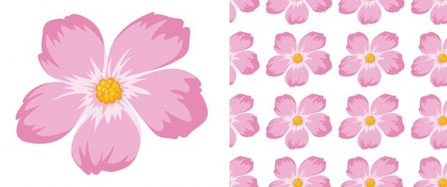 Een naadloos patroon van bloemen op wit