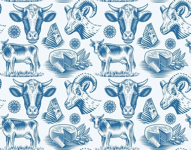 Een naadloos patroon voor een kaasthema