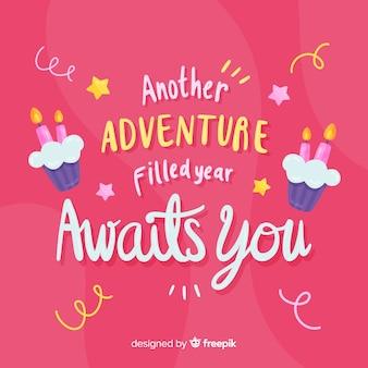 Een nieuw avontuur gevuld jaar wacht op je verjaardagskaart