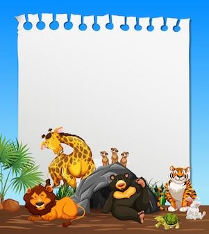 Een notitieblaadje met dierenthema
