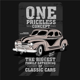 Een onbetaalbaar concept, illustratie van klassieke automodificatie
