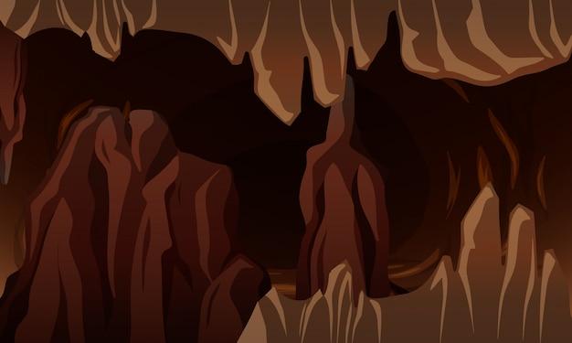 Een ondergrondse donkere grot
