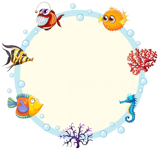 Een onderwater schepselrand