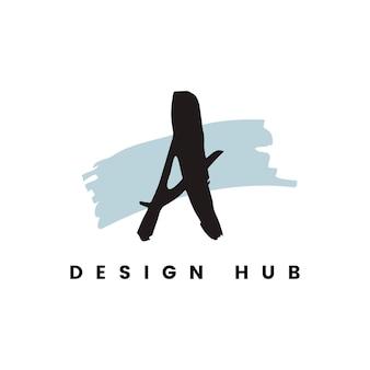 Een ontwerphub logo vector