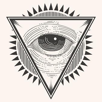 Een oog badge