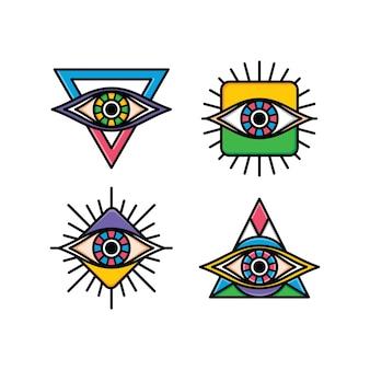 Een ooglogo symbool logo logotype verzameling