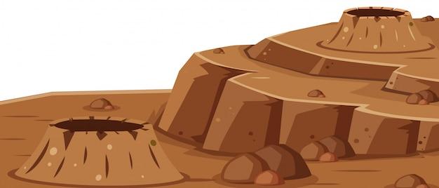 Een oppervlak van mars