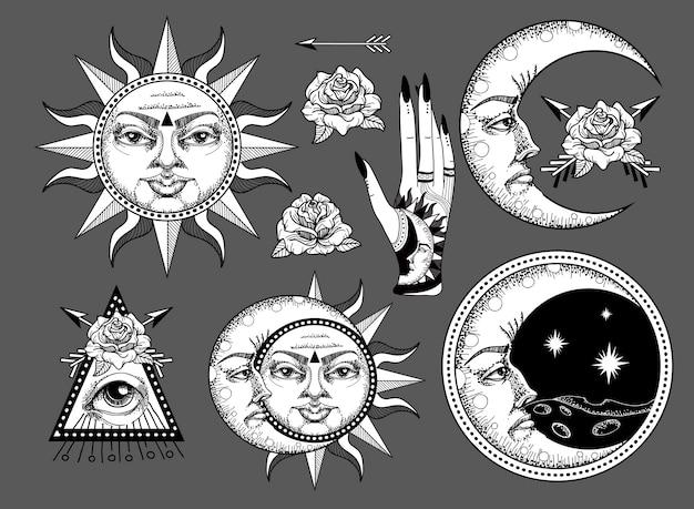 Een oude astronomische illustratie