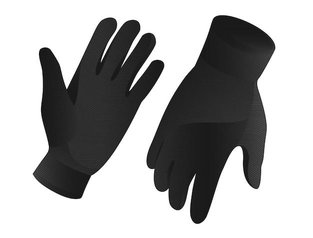 Een paar zwarte handschoenen