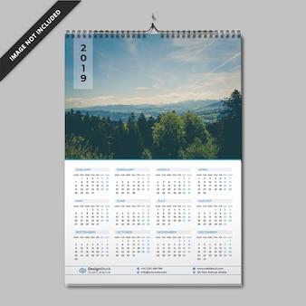 Eén paginakalender | kalender 2019 | muur kalender