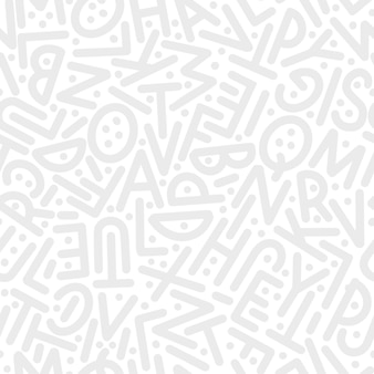 Een patroon van letters van het engelse alfabet in willekeurige volgorde. vector illustratie.