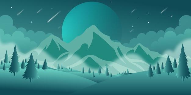 Een perfect beeld van de nachtachtergrond in moderne vector