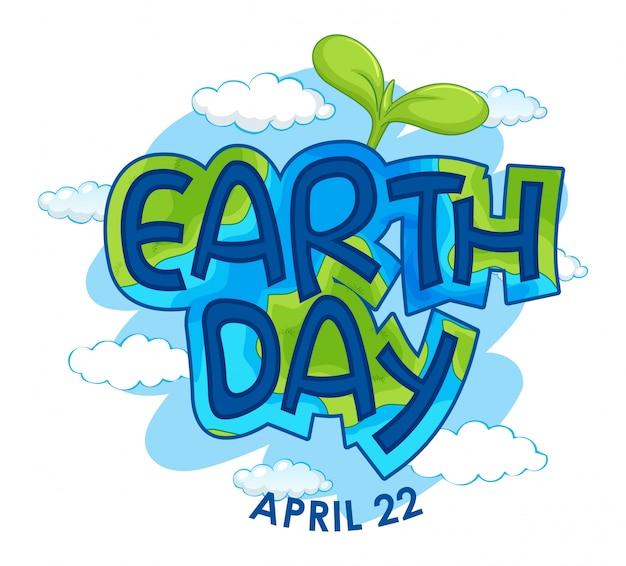 Een pictogram van de aarde dag