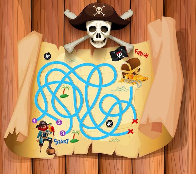 Een piraat maz-spelsjabloon