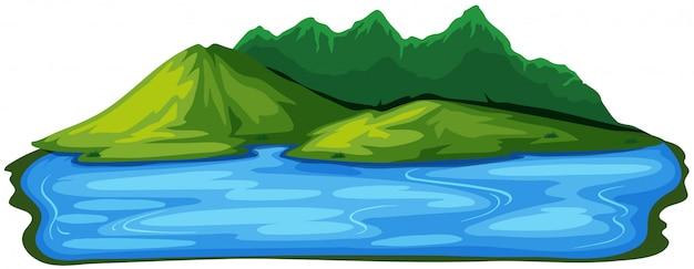 Een prachtig natuurlijk eilandlandschap
