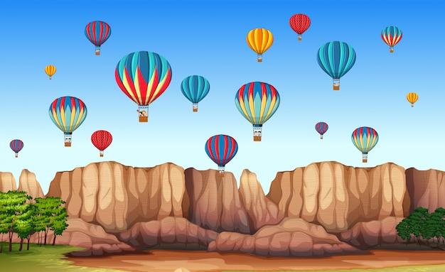 Een prachtige cappadocia-scène