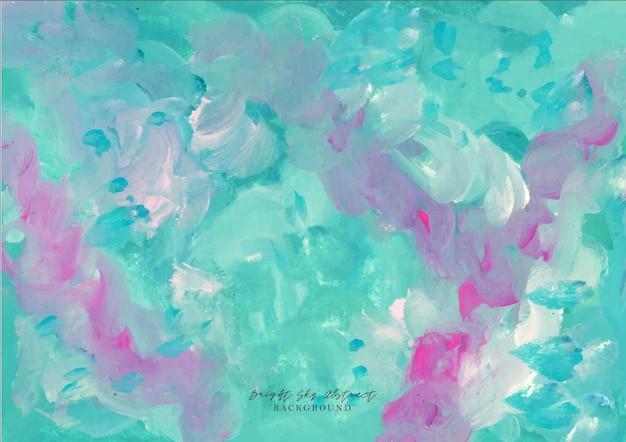 Een prachtige paarse en blauwe abstracte aquarelachtergrond