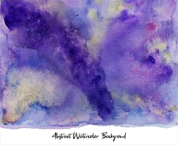 Een prachtige violette en gele abstracte aquarelachtergrond