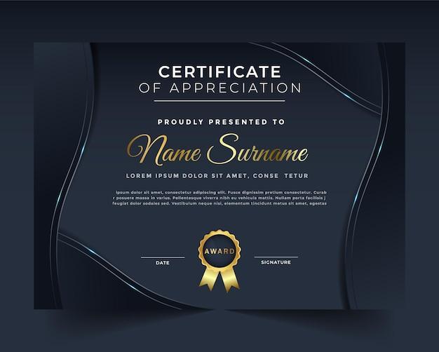 Een professionele creatieve en unieke certificaatsjabloon