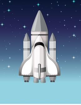 Een raket in de lucht