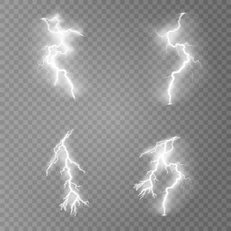 Een reeks bliksemschichten.