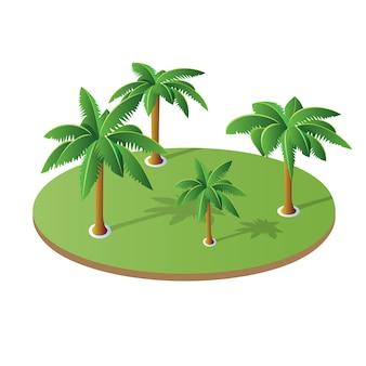 Een reeks isometrische palm
