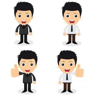 Een reeks leuke zakenmankarakters en beambten stellen in divers.