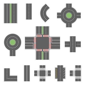 Een reeks snelwegverbindingselementen