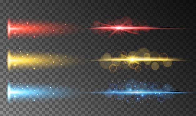 Een reeks van kleurrijke abstracte licht