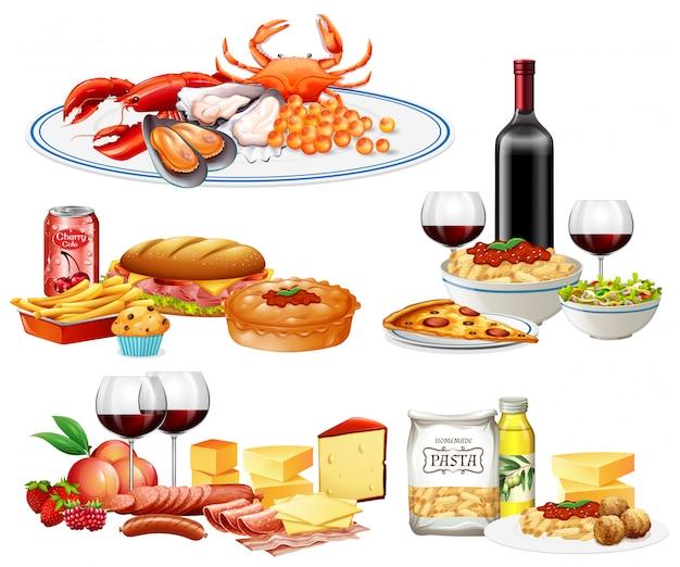 Een reeks verschillende gerechten