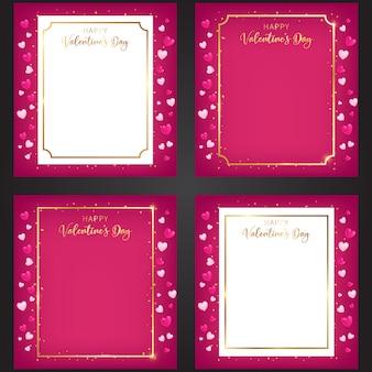 Een reeks zoete frames van de valentijnsdag