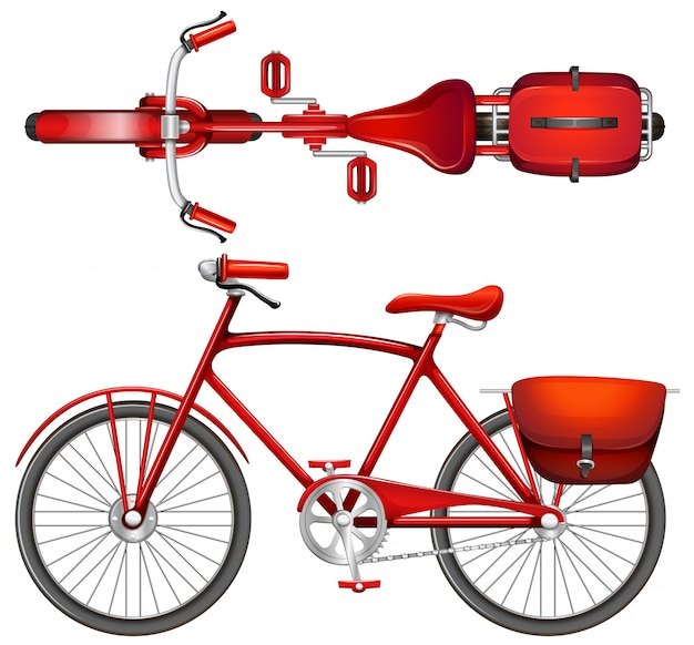 Een rode fiets