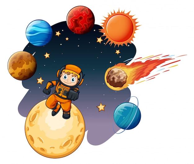 Een ruimtemelkwegscène