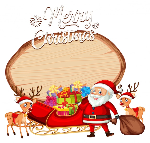 Een santa op kerstmisbanner