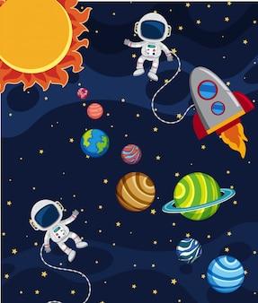Een scène van het zonnestelsel