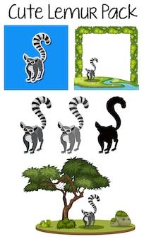 Een schattig lemurpack