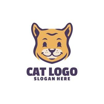 Een schattig logo voor je schattige huisdieren. perfect voor uw dierenverzorgings- of trimbedrijf