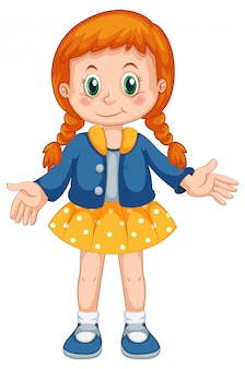 Een schattig meisje karakter