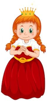 Een schattig prinses kostuum