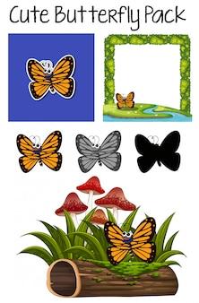Een schattig vlinderpakket