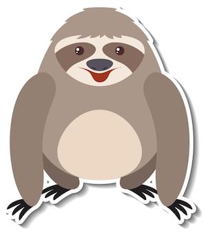 Een schattige luiaard cartoon dieren sticker