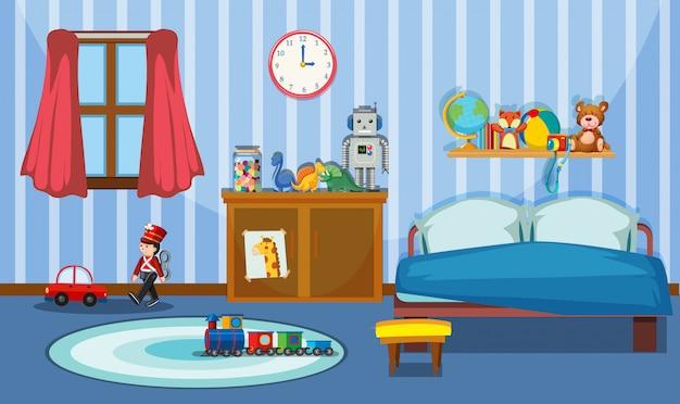 Een schattige slaapkamer sjabloon