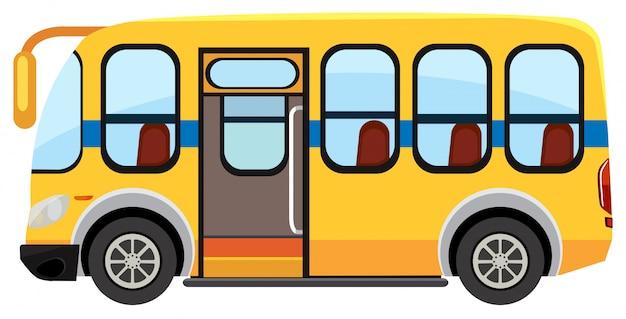 Een schoolbus op witte achtergrond