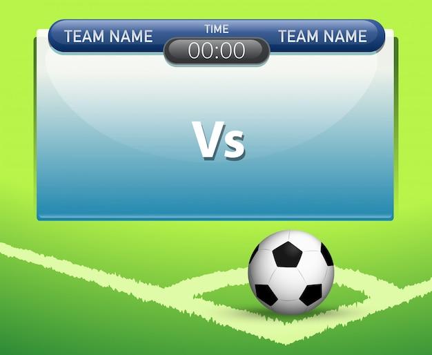 Een scorebord sjabloon voor voetbal