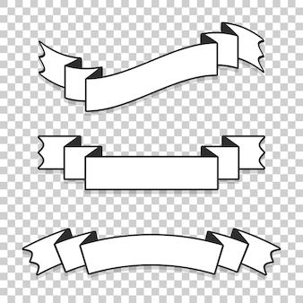 Een set bannerlinten.