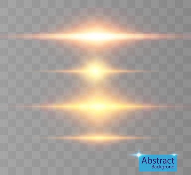 Een set fel licht flitst fonkelend met prachtige lichtjes.